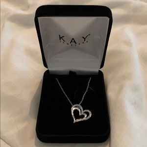 Kays double heart necklace